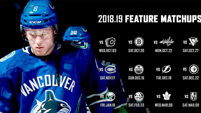 CANUCKS Home Schedule