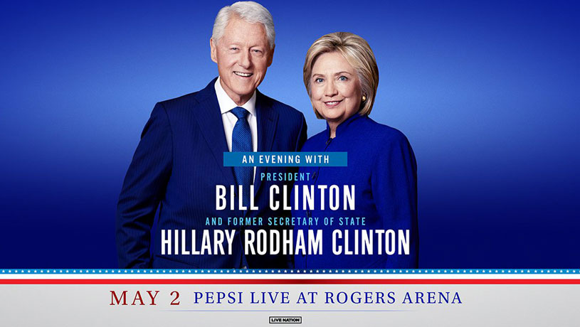 An Evening With President Bill Clinton and Former Secretary of State Hillary Rodham Clinton