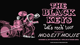 THE BLACK KEYS `LETS ROCK` TOUR with special guests MODEST MOUSE and SHANNON & THE CLAMS