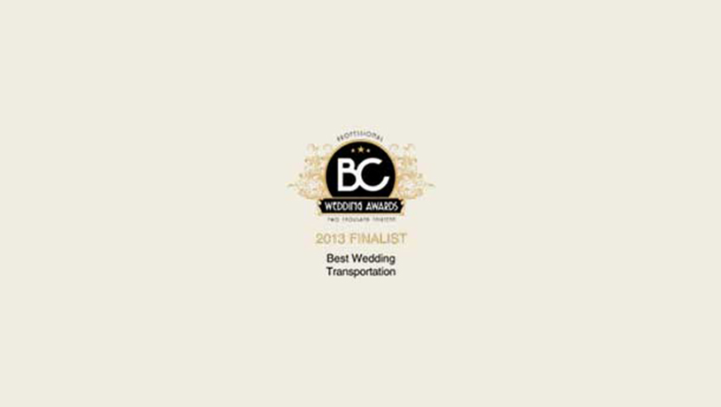 Professional BC Wedding Award 2013 - Boss Limousines